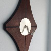 Mid-Century Modern Wall Coat Rack | Chairish