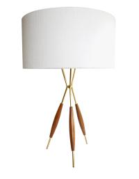 Gerald Thurston Mid-Century Tripod Table Lamp | Chairish