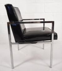 Mid-Century Modern Vinyl and Chrome Dining Chairs - Set of ...