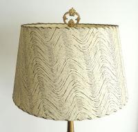 Vintage 1940s Floor Lamp with Fiberglass Shade | Chairish