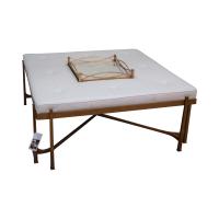 Jonathan Charles Eglomise/Gilded Iron Coffee Table | Chairish