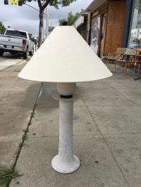 Post-Modern White Washed Table Lamp | Chairish
