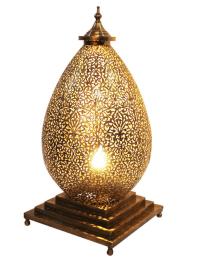 Moroccan Brass Table Lamp | Chairish
