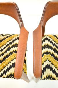 Mid-Century Modern Danish Teak Arm Chairs - A Pair   Chairish