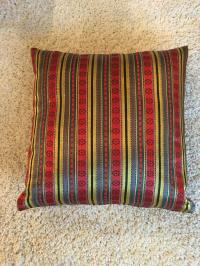 Jewel Tone Silk Pillow from Thailand | Chairish