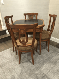 Antique Game Table and Chairs