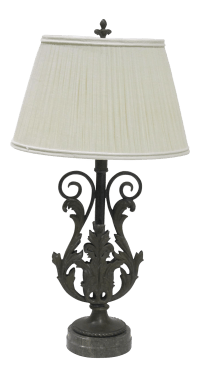 Vintage Sarreid LTD Marble Base Table Lamp | Chairish