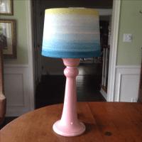 Vintage Pink Ceramic Table Lamp | Chairish