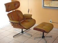 Vintage Eames Plycraft Mid Century Modern Chair & Ottoman ...