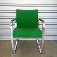 Milo Baughman Mid-Century Modern Chrome Chair | Chairish