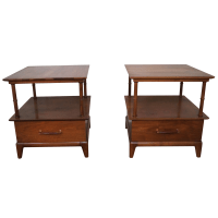 Heritage Henredon Mid Century End Tables | Chairish