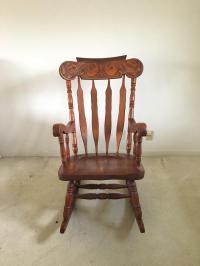 Art Nouveau Style Rocking Chair | Chairish