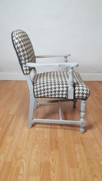 Vintage Houndstooth Accent Chair | Chairish
