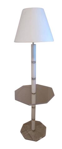 Mid-Century Clear Lucite Floor Lamp | Chairish