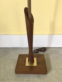 Mid-Century Wood & Brass Table Lamp   Chairish