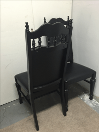 Black Mexican Leather Chairs - A Pair | Chairish