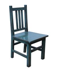 Miniature Asian Style Rustic Handmade Blue Wood Chair ...