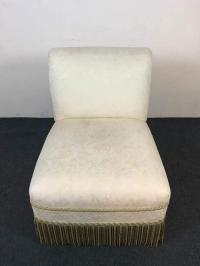 Contemporary French Rococo Style White Upholstered Slipper ...