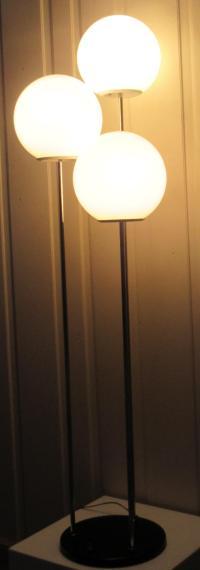Vintage Modern Triple Globe Floor Lamp | Chairish