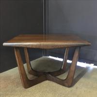 Sculptural Walnut Side Table by Kroehler | Chairish