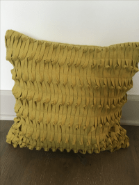West Elm Decorative Pillow, Mustard Toned - 2 | Chairish