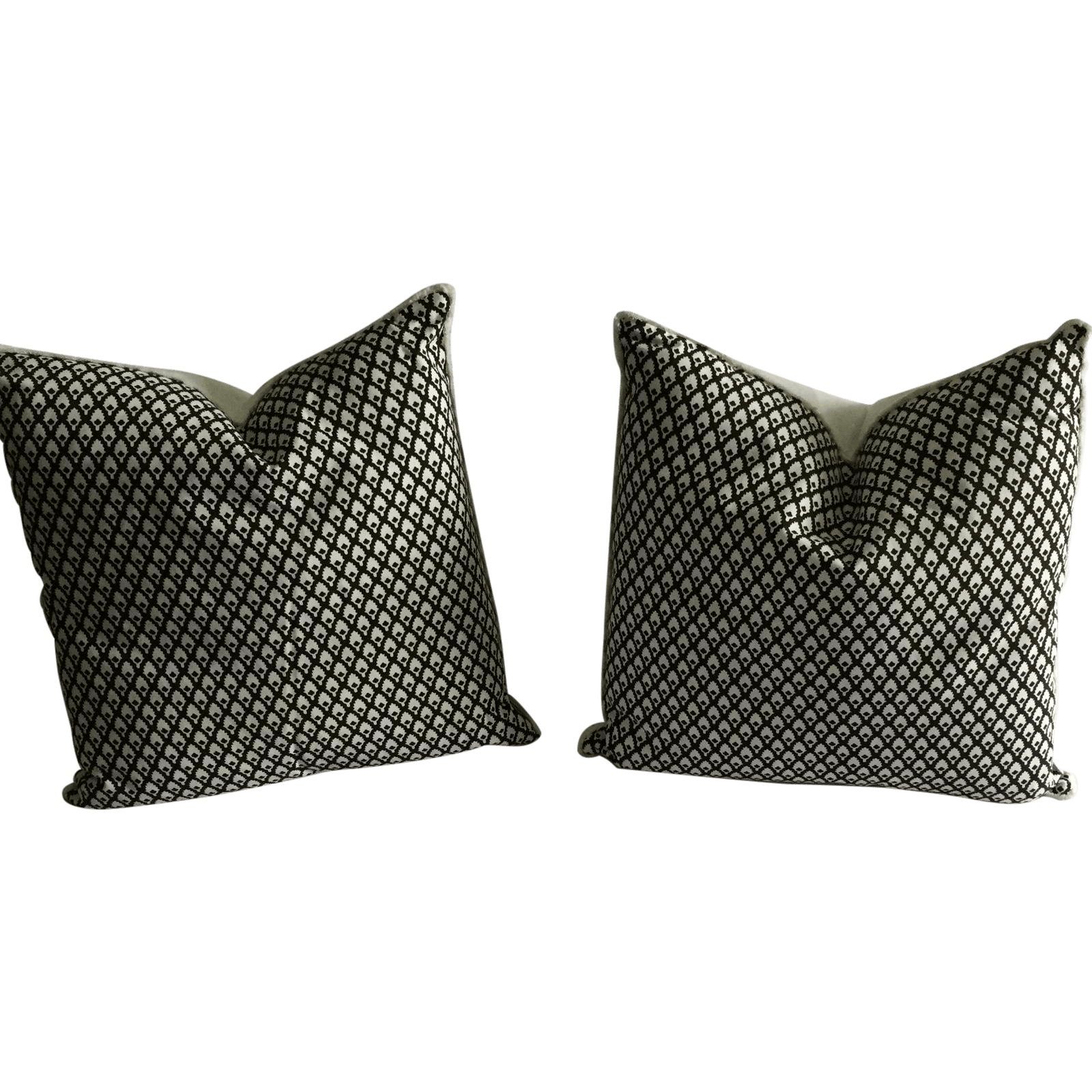 Chocolate Lacefield Designs Pillows A Pair  Chairish