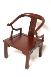 Antique Carved Chinese Horseshoe Chair
