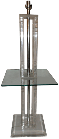 Square Lucite Floor Lamp | Chairish