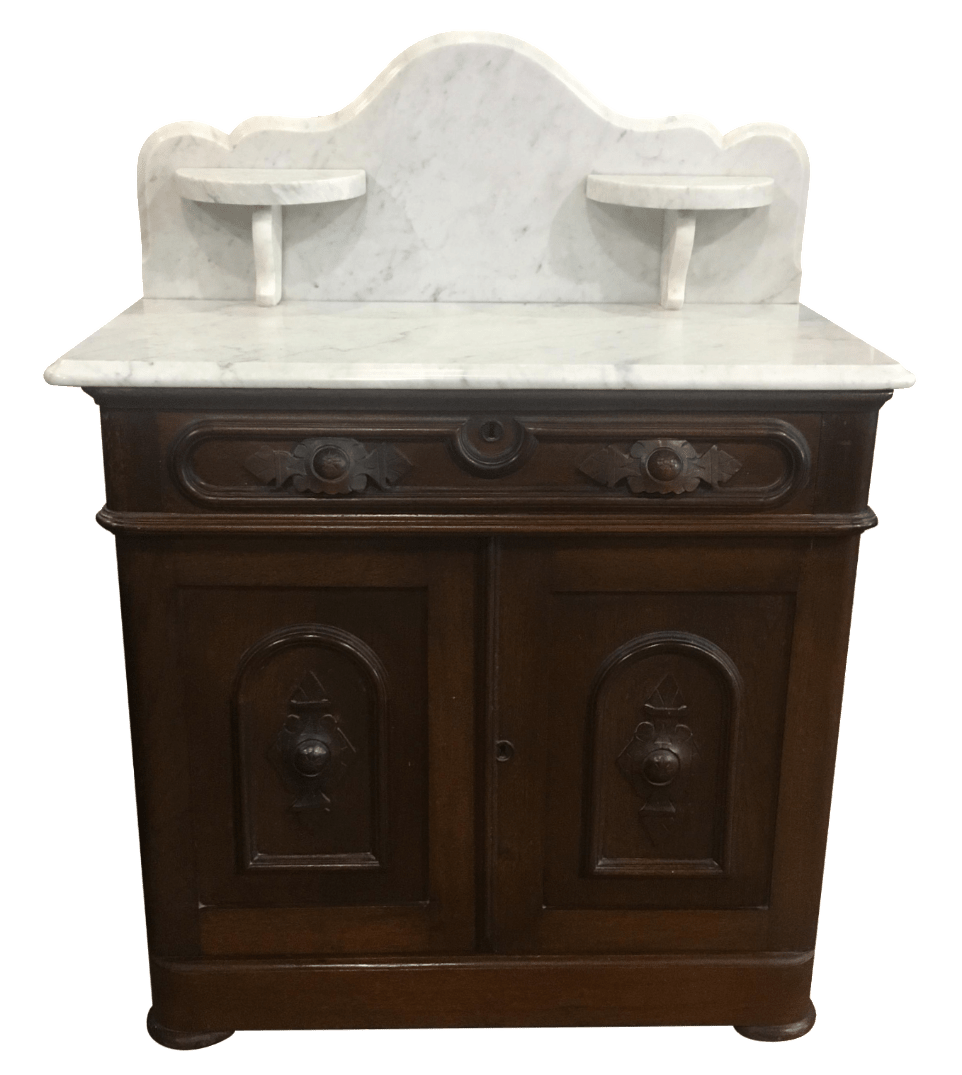 Antique Victorian Marble Top Bedroom Washstand  Chairish
