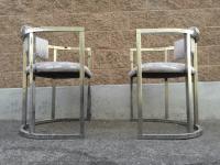 Vintage 1980s Chrome Barrel Chairs - A Pair | Chairish
