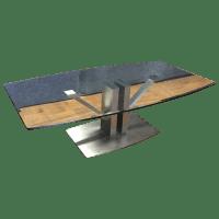 Modern Metal & Glass Coffee Table | Chairish