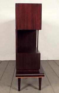 Mid-Century Two Tone Wood Display Cabinet   Chairish