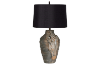 Zebra Table Lamp | Chairish