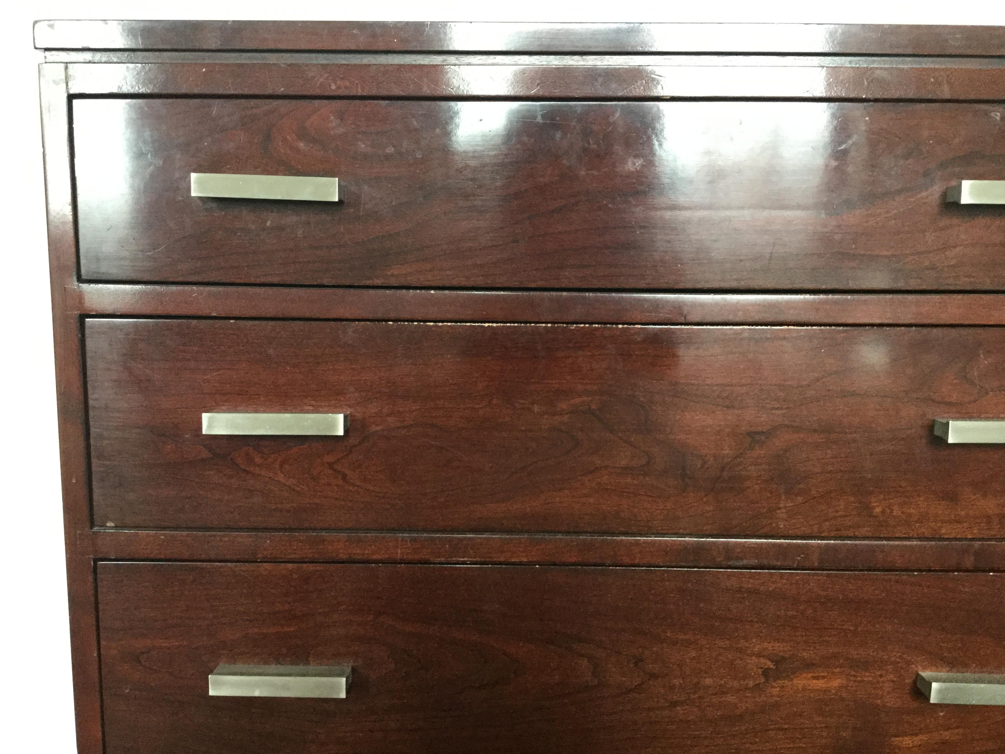 Stickley Cherry Double Dresser  Chairish