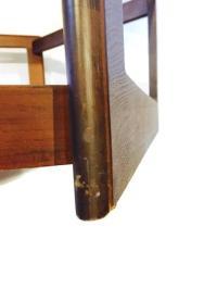 Mid Century Modern Hexagon Coffee Table Walnut & Smoky ...