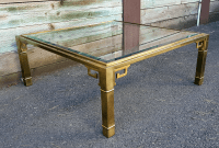 Mastercraft Brass Greek Key Coffee Table | Chairish