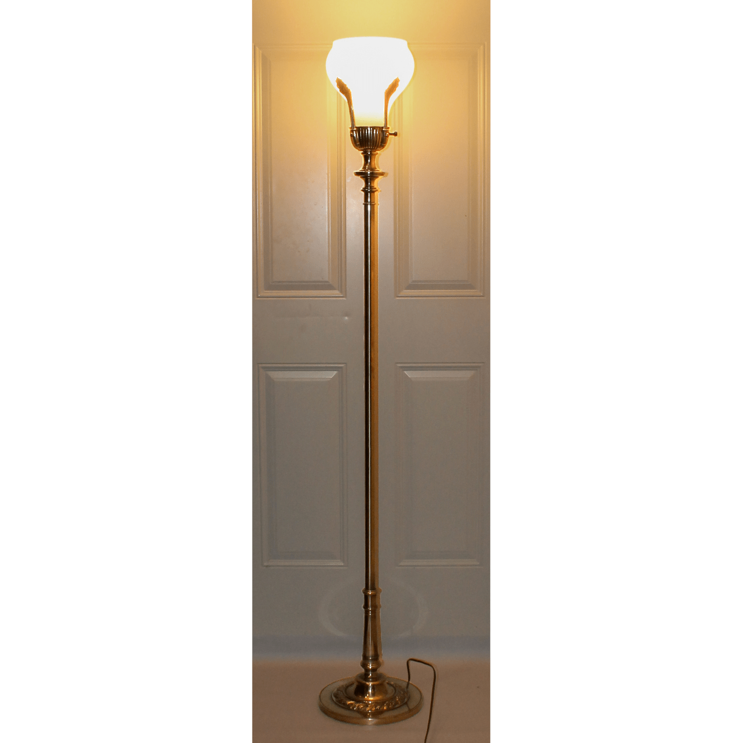Hollywood Regency Stiffel Torchiere Floor Lamp