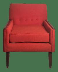 Mid-Century Orange Accent Chair   Chairish