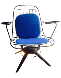Mid-Century Modern Homecrest Swivel Chair Cushion | Chairish