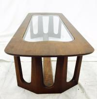 Vintage Mid-Century Modern Glass Top Coffee Table | Chairish