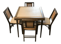 Stakmore Game Folding Table & Chairs | Chairish