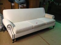 White Linen Sofa | Chairish