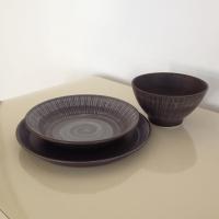 Hand Painted Danish Dinnerware - Set of 6 | Chairish