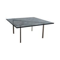 Knoll Chrome Van Der Rohe Barcelona Coffee Table | Chairish