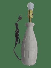 Mid-Century Modern White Ceramic Table Lamp | Chairish