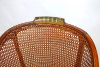 English Edwardian Painted and Caned Armchair | Chairish