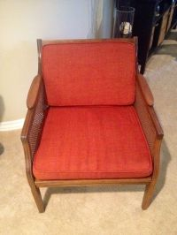 Mid-Century Modern Danish Cane Side Chair | Chairish
