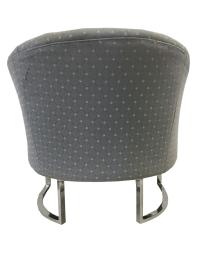 Milo Baughman Chrome Tufted Barrel Chairs - A Pair | Chairish