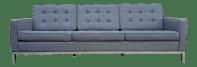 Gray Mid-Century Style Sofa | Chairish