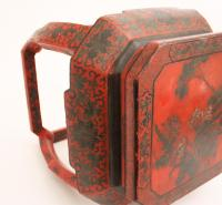 Red Chinese Garden Stool | Chairish